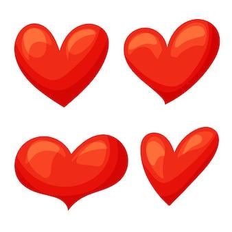 Coração vermelho ilustração em vetor ícones dos desenhos animados. excelente design para qualquer finalidade.