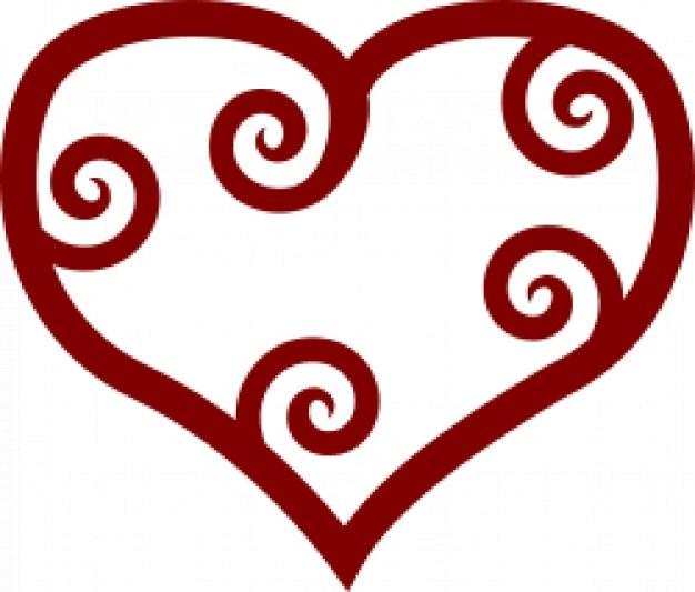 Coração vermelho valentim maori
