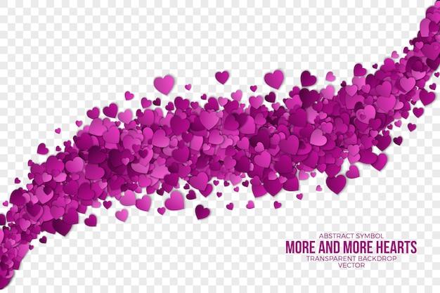 Corações abstratos 3d