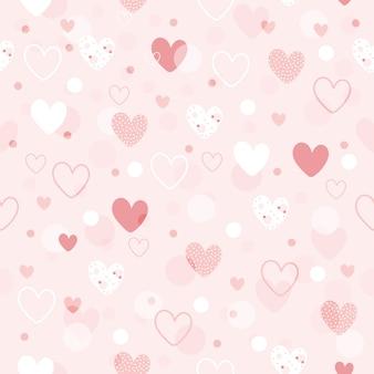 Corações bonito padrão sem emenda