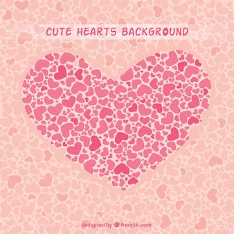 Corações bonitos fundo