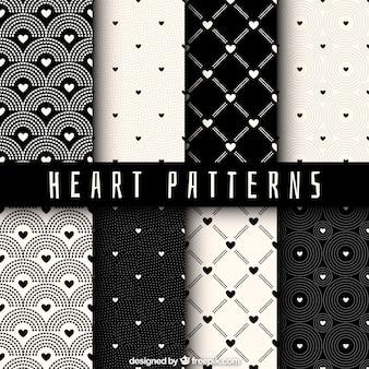 Corações coleção do teste padrão