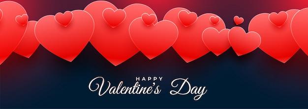 Corações de amor vermelho atraente para dia dos namorados