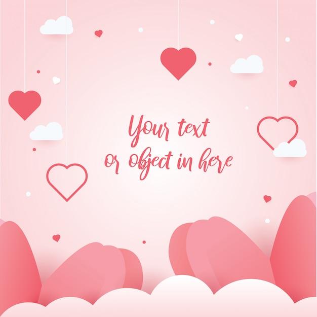 Corações de fundo bonito e conceito de dia dos namorados