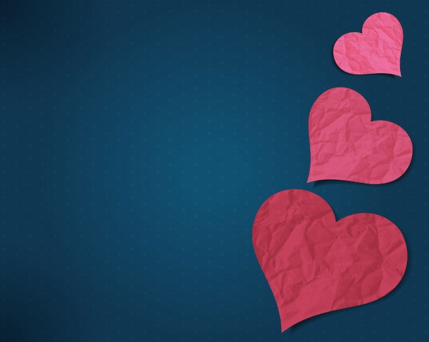 Corações de papel velho
