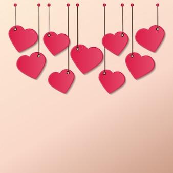 Corações de suspensão cordas