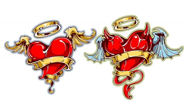 Corações de tatuagem