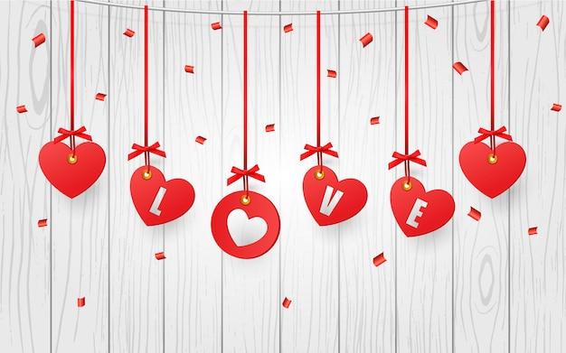 Corações decorativos dos namorados