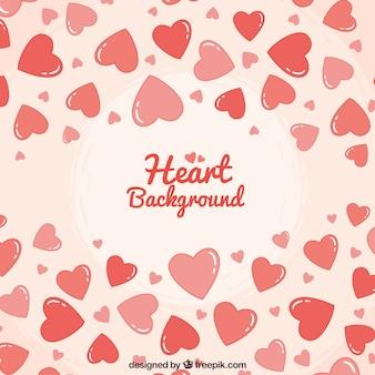 Corações desenhados mão fundo