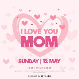 Corações, dia mães, fundo