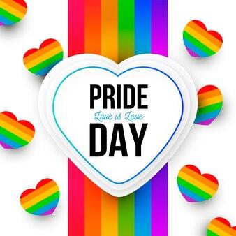 Corações do arco-íris do conceito do dia do orgulho