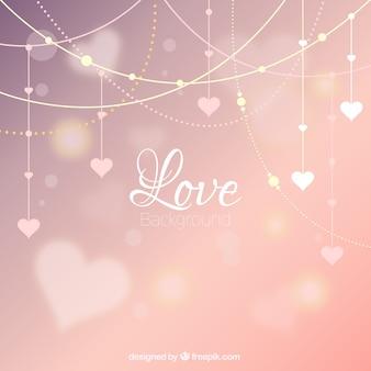 Corações do bokeh