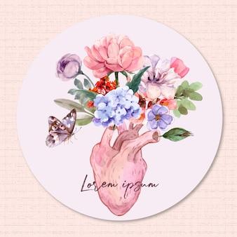 Corações e flores.