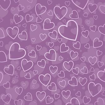 Corações em tons de rosa