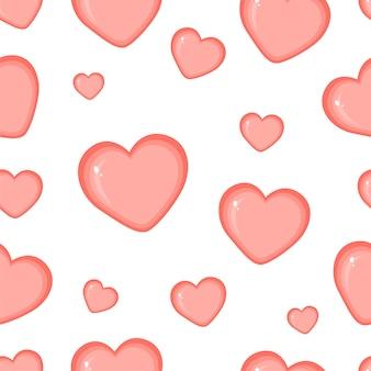 Corações sem costura de fundo, pode ser usado para celebrações