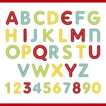 Cores alfabeto