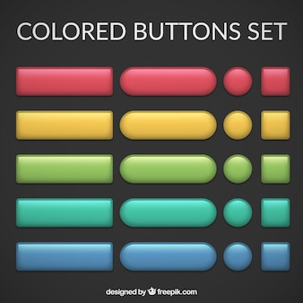 Cores botões set