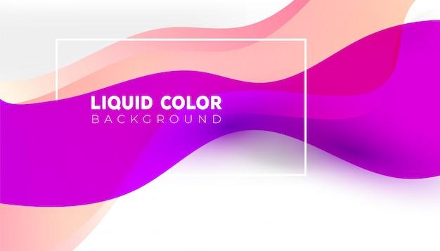 Cores brilhantes gradientes na moda com formas fluidas abstratas, pintar o fundo