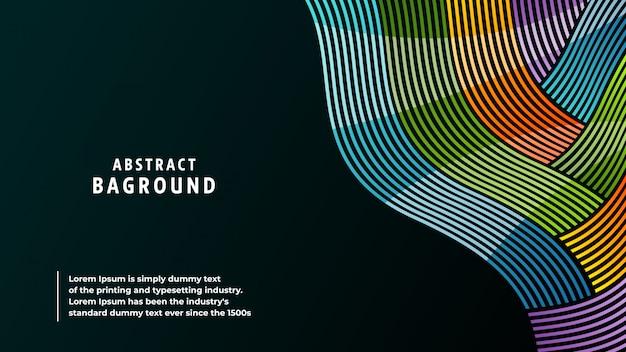 Cores completas e linhas do fundo abstrato em uma combinação bonita.
