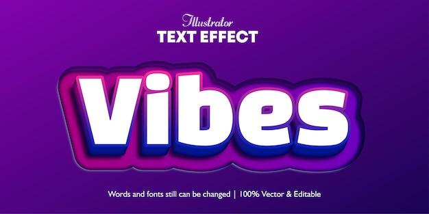 Cores da vibração com efeito de texto de fundo recortado