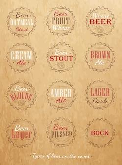 Cores de cerveja cor kraft