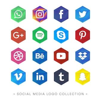 Cores de coleção de mídia social