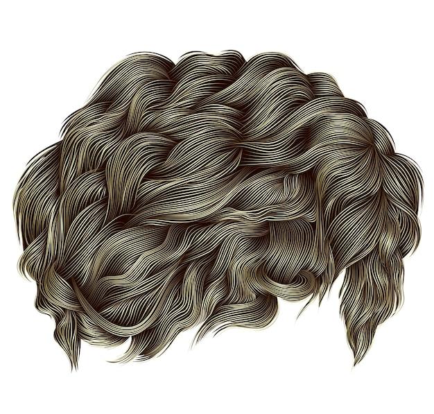 Cores loiras de cabelos cacheados da moda.
