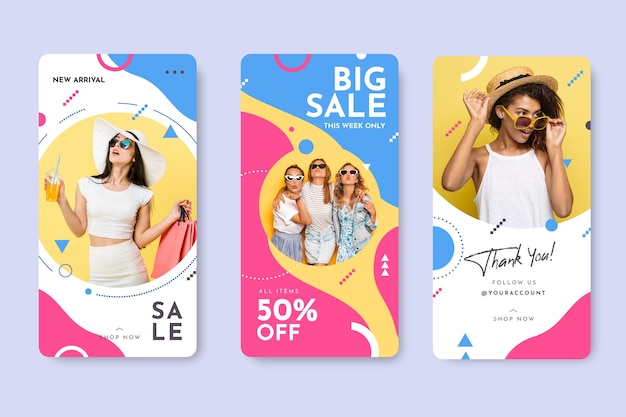 Cores loucas instagram stories template sales