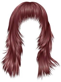 Cores modernas de cabelos compridos rosa cobre.