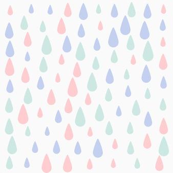Cores pastel desenho de fundo padrão de gotas caindo