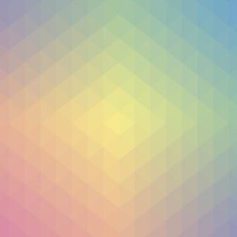 Cores pastel projeto usando geométricas