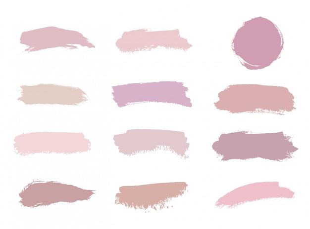 Cores rosa, nude, rosa, pêssego escovam textura aquarela de acidente vascular cerebral.