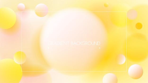 Cores vibrantes amarelas e fundo gradiente