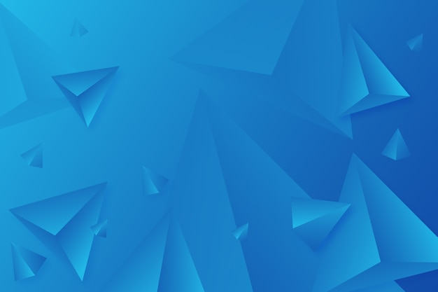Cores vivas para fundo azul triângulo 3d