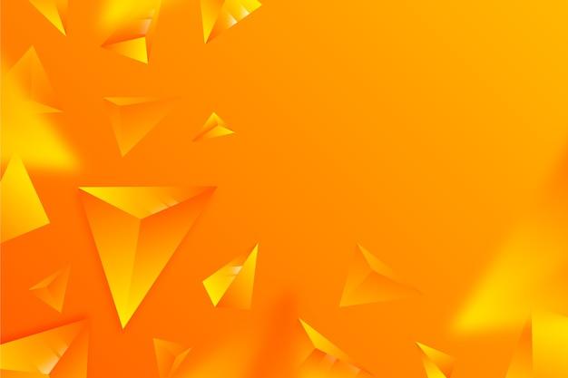 Cores vivas triângulos 3d fundo