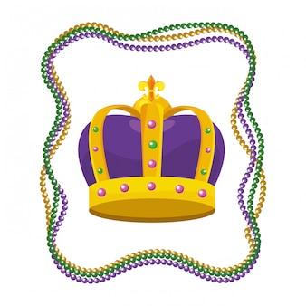 Coroa adornada com miçangas