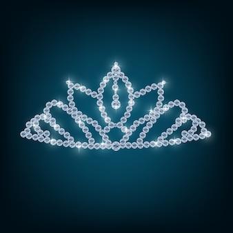 Coroa com conceitos de diamantes