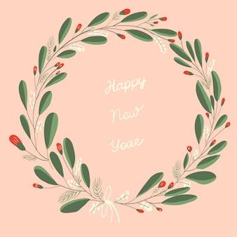 Coroa de ano novo com letras