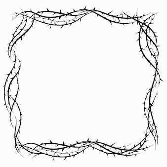 Coroa de espinhos desenho realista