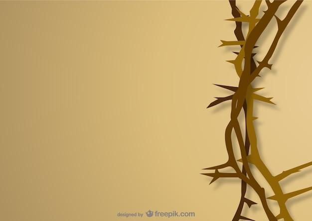 Coroa de espinhos Vetor Premium