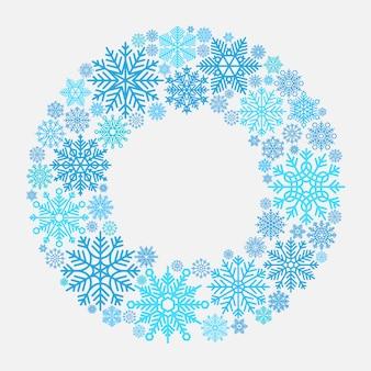 Coroa de floco de neve