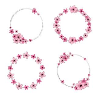 Coroa de flores de cerejeira