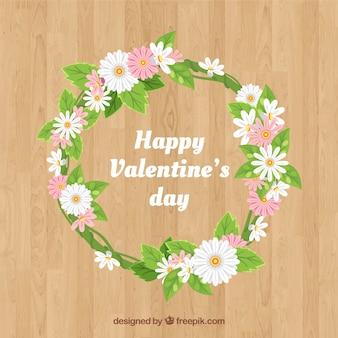 Coroa de flores e ramos florais do dia dos namorados