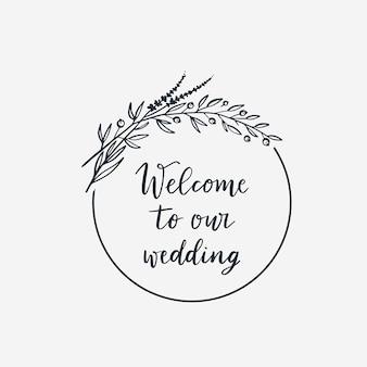 Coroa de flores para decoração de casamento
