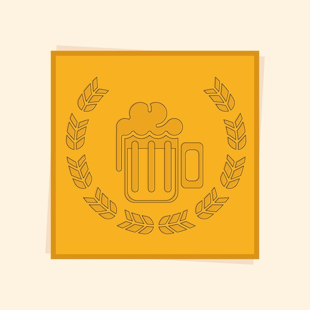 Coroa de louros da cerveja