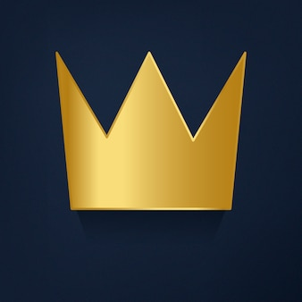 Coroa de ouro no vetor de fundo azul