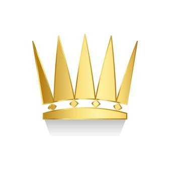 Coroa de ouro sobre fundo branco