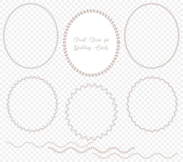 Coroa de pérolas para decoração de casamento