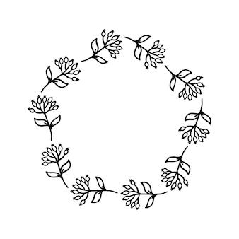 Coroa desenhada à mão em fundo branco