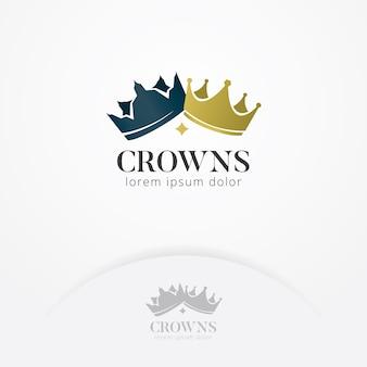 Coroa do logotipo de reis e rainhas